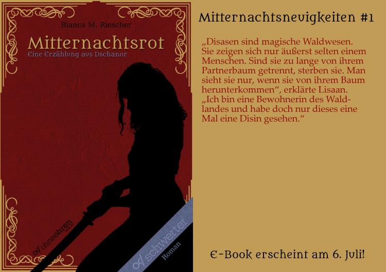 Mitternachtsrot Teaser No. 1 © Verlag ohneohren/Bianca M. Riescher