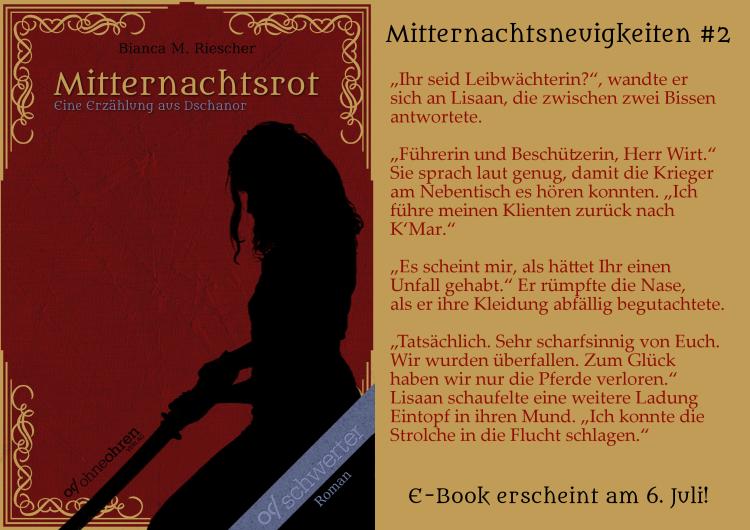 Mitternachtsrot Teaser No. 2 © Verlag ohneohren/Bianca M. Riescher