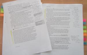 Manuskript nach der ersten Überarbeitungsphase