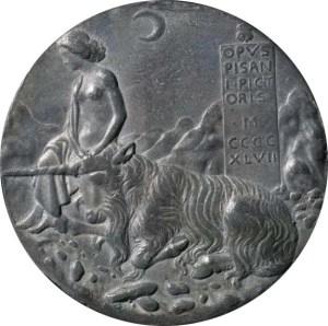 Gemeinfrei, https://commons.wikimedia.org/w/index.php?curid=934684 Einhorn auf einer Medaille von Pisanello, ausgestellt 2001 in der National Gallery of Arts.
