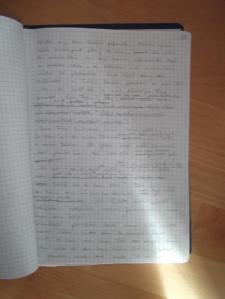 damals noch handschriftlich © privat